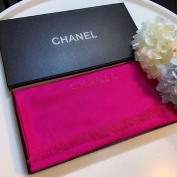 NOV9O2 Chanel Keep Warm Scarf Smooth Skin-friendly Scarves velvet Shawl #1
