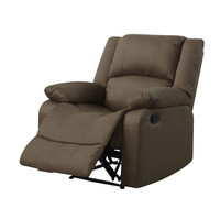 Chocolate Brown Living Room Recliner Chair in Microfiber Upholstery