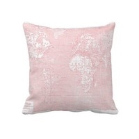 Pink Vintage World Map Pillow from Zazzle.com