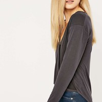 Light Before Dark Cupro Wrap Top - Urban Outfitters