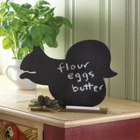 Squirrel Message Chalk Board Decor