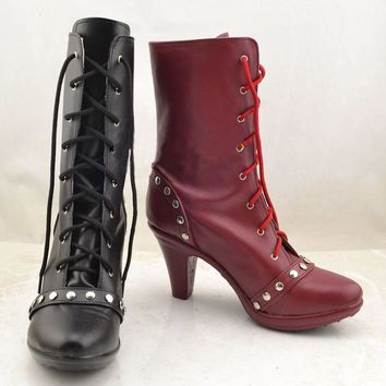 New Batman Joker cosplay shoes Anime boots Harley Quinn high quality Custom-made