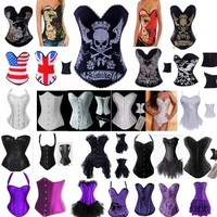 Slim gothic corset sexy women's club party evening top&bustier gorgeous wear