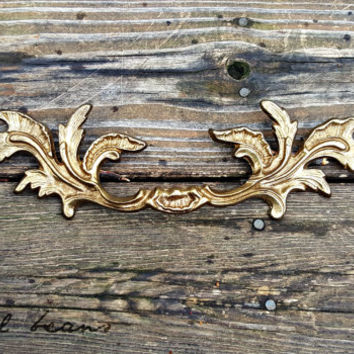 French Provincial Drawer Pulls Brass Drawer Pulls KBC Decorative Drawer Pulls Victorian Dresser Pulls Gold Drawer Pulls French Country Pulls
