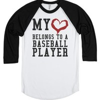 My Heart belongs to a Baseball Player tee t shirt tshirt-T-Shirt