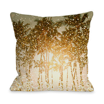 Sparkly Summer - Yellow Multi Outdoor Throw Pillow by OneBellaCasa.com