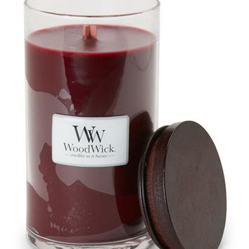 Woodwick Plum Berry Orchard Glass Jar Candle