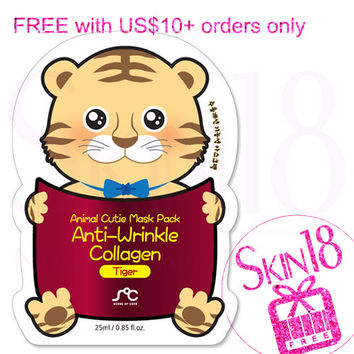 Freebies for US$10+order ONLY - SOC Animal Cutie Mask Pack Anti-Wrinkle Collagen Tiger   *exp.date 03/18*