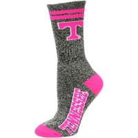 Tennessee Volunteers Women's Marble Medium 504 Socks – Gray/Pink