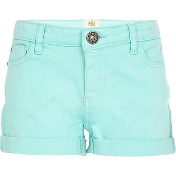 River Island Girls blue denim shorts