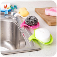 Hot Sale Candy Color Soap Dish Box Case Holder Container Wash Shower Home Bathroom