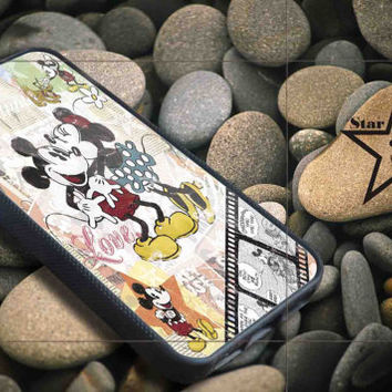Minnie and mickey mouse iPhone Case, iPhone 4/4S, 5/5S, 5c, Samsung S3, S4 Case, Hard Plastic and Rubber Case By Dsign Star 08