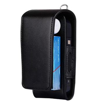 iQOS Electronic Cigarette Protective Holder Cigar Cover iQOS Wallet Case Electronic Cigarette PU Leather Carrying Case Box with Card Holder