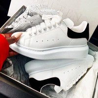 Alexander McQueen Popular Women Men Black And White Sports Shoes Sneakers