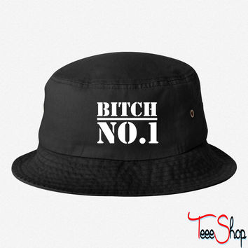 bitch no1 bucket hat
