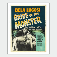 Bella Lugosi's Bride Vintage Horror Movie Poster Print