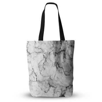 "Chelsea Victoria ""Marble No 2 "" Black Modern Everything Tote Bag"