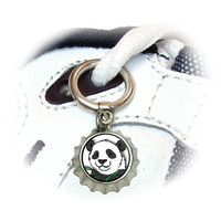 Panda Bear Shoe Bottlecap Charm