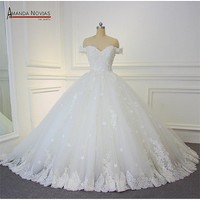 Wedding Dress Off The Shoulder Straps Ball Gown Wedding Gown