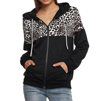 Hoodies Sweatshirt Women Harajuku Streetwear Leopard Print Hoodie Women 2018 Gothic Woman Kpop Clothes Kawaii Korean Moletom
