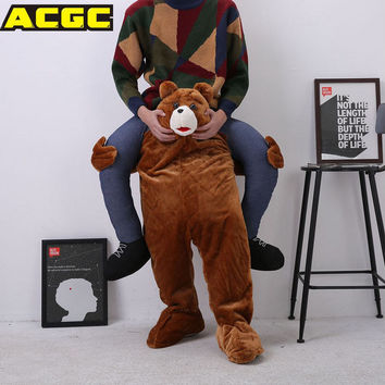 Mascot Costume Unisex Cosplay Novelty Carry Me Ride On Costume Animal Funny Fancy Dress Pants Halloween Costumes For Women/men