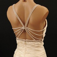 30's Old Hollywood Style Ivory Satin Wedding Dress-Evening Gown