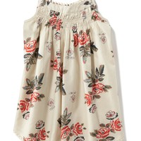 Shirred Floral Tank Dress for Baby   Old Navy