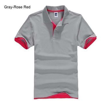 Grey with Red Men's/ Women's Polo Shirt XS-3XL