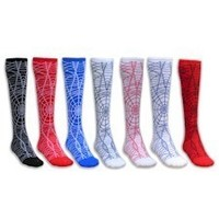 Spider Web Knee High Sport Socks CrossFit Socks - Softball Socks - Soccer Socks