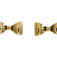 Betsey Johnson Gold Bow Stud Earrings