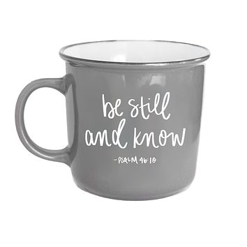 Be Still And Know Psalm 46:10 Scripture Campfire Mug
