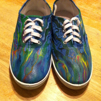 Custom Painted Canvas Shoes [alt-J An Awesome Wave]