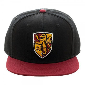 Harry Potter Gryffindor Crest Black & Red Snapback