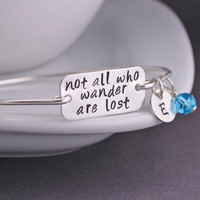 Letter Not All Who Wander Are Lost Bracelet 2016 Hot Best Friend Jewelry Gift for women free shipping YPQ0528
