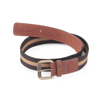 Style n Craft 390343 Leather/Webbing Combination Belt in Brandy Color
