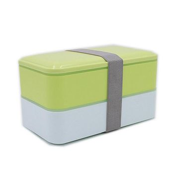 800ml 2 layer Japanese Style Lunch Box Plastic PP Bento Boxes BPA Free for Kids School Picnics Food Container