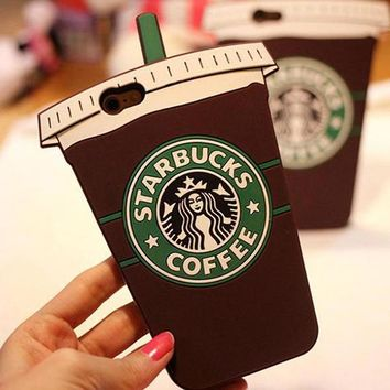 Perfect Starbucks Fashion Coffee iPhone Phone Cover Case For iphone 6 6s 6plus 6s-plus 7 7plus