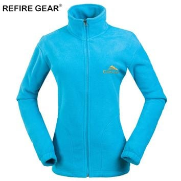 ReFire Gear Winter Thermal Outdoor Camping Fleece Jackets Women Windproof Warm Thick Hiking Jacket Female Skiing Climbing Coats