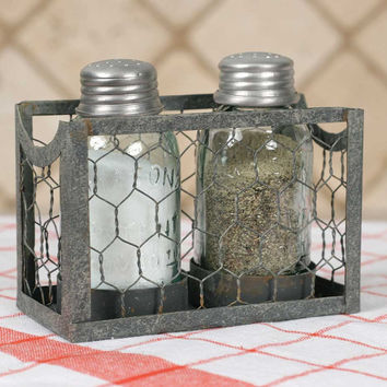 CTW Home Collection - Chicken Wire Salt and Pepper Holder