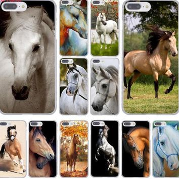 Watercolor Horse Horses Running Hard Phone Cover Case for iphone 5 6 7 8 X