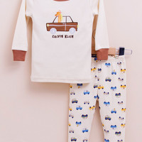 2-piece snug fit cotton pajama - Truck