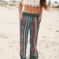 Earn Your Stripes Printed Palazzo Pants