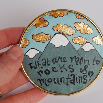 Pride and Prejudice Fridge Magnet // What Are Men To Rocks and Mountains? // Nerdy Decor