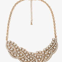 Pearlescent Bib Necklace