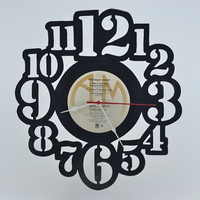 Unique Handmade Vinyl Record Wall Clock (artist is Styx)