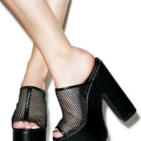 Y.R.U. Mesh Dream Platforms Black
