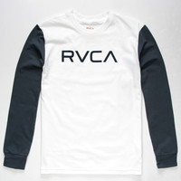 Rvca Big Rvca Boys T-Shirt White/Blue  In Sizes
