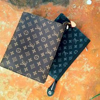 Free shipping-LV Men's and women's clutch bag large-capacity envelope bag