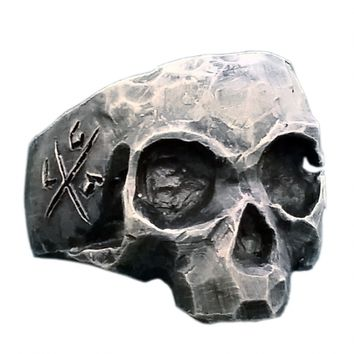 """Gratfully Dead Skull"" Ring by Lor G Jewellery (Silver)"