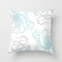 Under the sea Throw Pillow by NisseDesigns